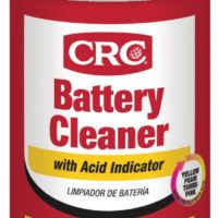 BATTERY CLEANER WITH ACID INDICATOR